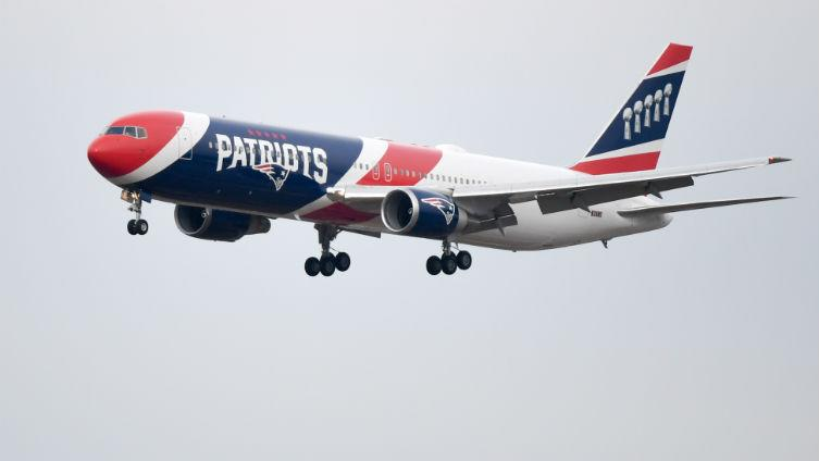 Patriots give team plane a makeover to reflect sixth championship