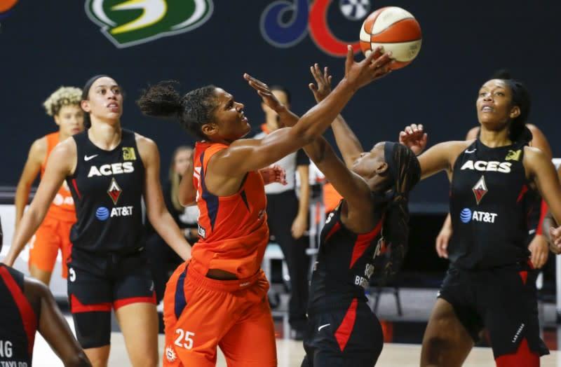 WNBA: Connecticut Sun at Las Vegas Aces