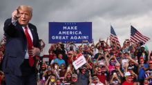 At campaign rally, Trump steps up attacks on Biden over China