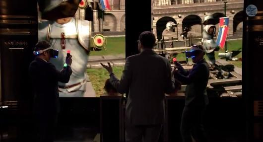 Jimmy Fallon punches a dragon with Project Morpheus