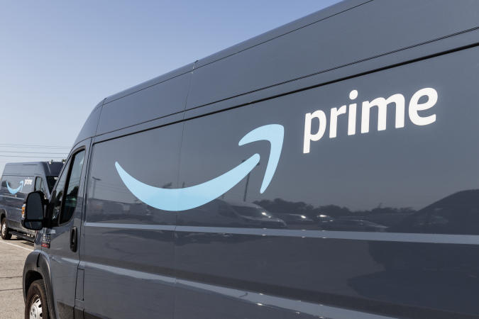 Indianapolis - Circa July 2019: Amazon Prime delivery van. Amazon.com is getting In the delivery business With Prime branded vans