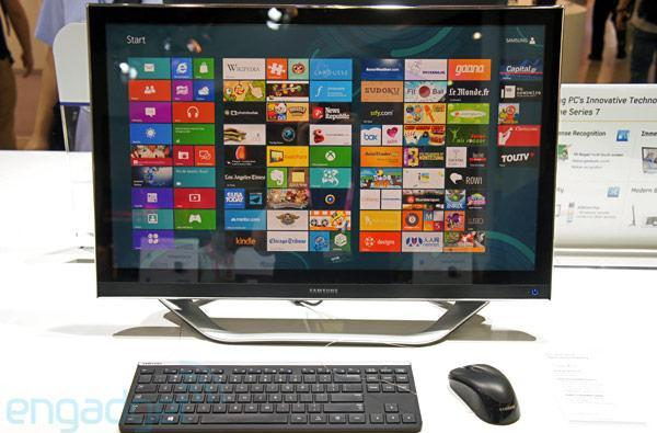 Samsung shows off Series 7 all-in-one PC with slim design and metal stand, stays mum on specs (update: hands-on photos)