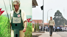 A walk to remember: Prince Harry retraces Princess Diana's Footsteps