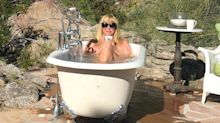 Suzanne Somers, 72, told she's too old to post bathtub photo: 'Totally inappropriate'