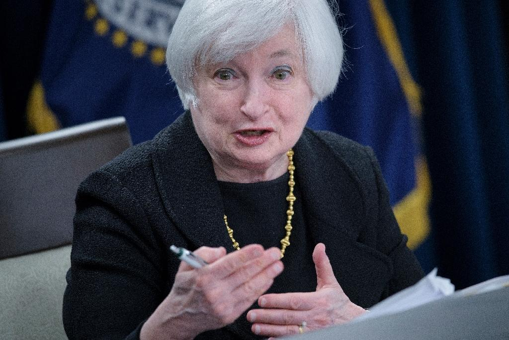 Federal Reserve Chair Janet Yellen speaks at the Federal Reserve's Wilson Conference Center in Washington, DC, on September 17, 2015 (AFP Photo/Brendan Smialowski)