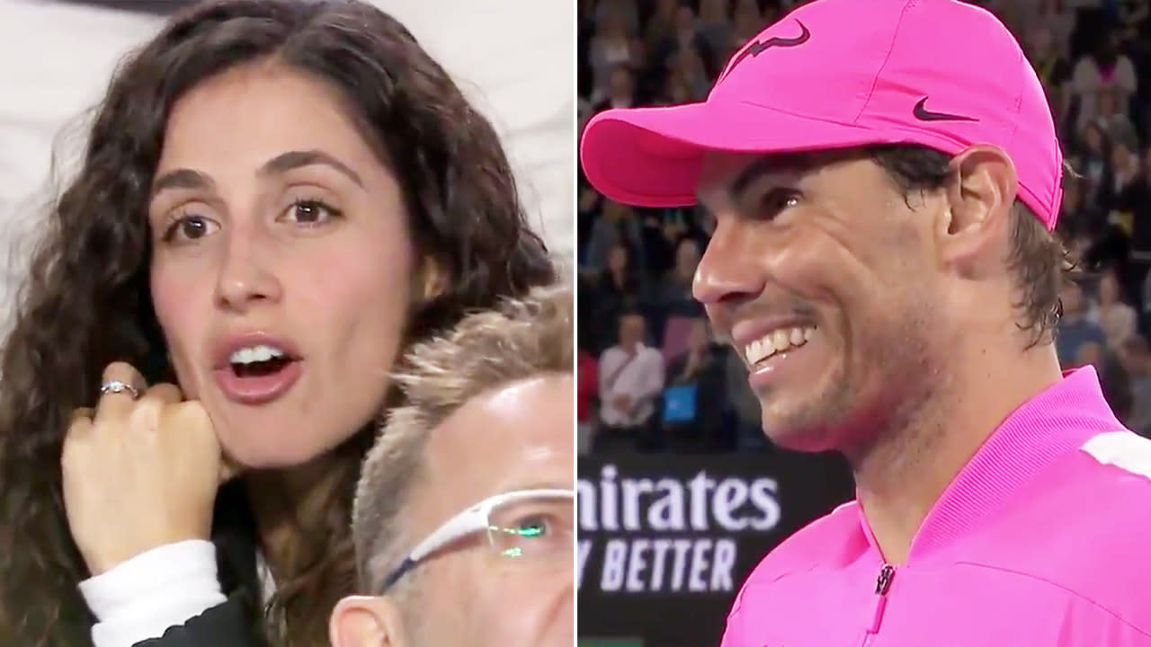 'She doesn't care': Rafael Nadal continues funny Australian Open sledging of wife
