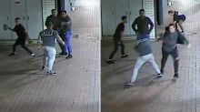 Woman's skull fractured and man injured after shocking brick-throwing attack
