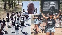 'Meat is murder': Farmer breaks down after 150 vegan protesters storm cattle farm