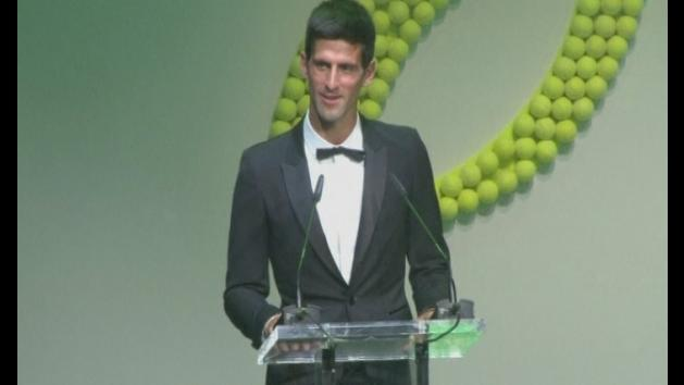 Novak Djokovic joined by Ronnie Wood at charity auction