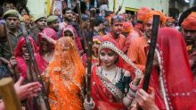 Lathmar Holi 2020 Celebrations in Barsana, Uttar Pradesh - In Pics