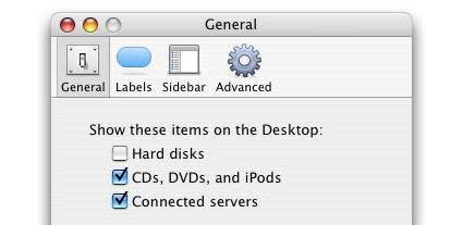 Mac 101: Hide Hard Drives, CDs, etc on your Desktop