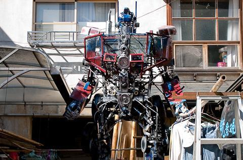 Caption contest: Optimus Prime moonlights as clothes dryer
