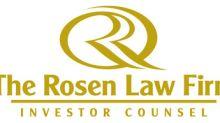 CRON NOTICE ALERT: Rosen Law Firm Announces Filing of Securities Class Action Lawsuit Against Cronos Group Inc.; Important Deadline - CRON