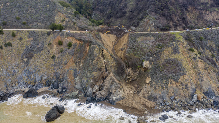 California's Pacific Coast Highway falling into sea
