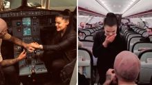 Jetstar cabin crew help with surprise mid-flight proposal
