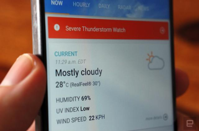 AccuWeather will give you places to go based on the weather
