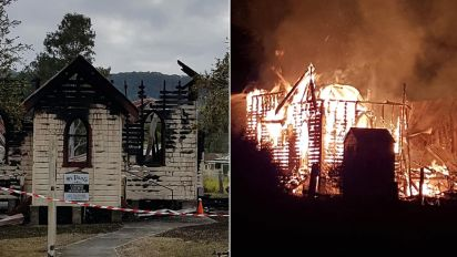 Police investigating after fire destroys church