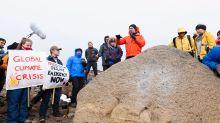 Iceland activists, officials hold funeral for death of Okjokull glacier