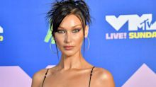 Bella Hadid brings back naked dressing in a see-through body suit at the 2020 MTV VMAs