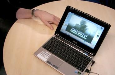 Video: ASUS N10 netbook gets hands-on treatment, plays COD4