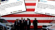 Ces tweets sur l'emploi dans l'automobile que Trump va regretter avec l'ouverture du Salon de Détroit
