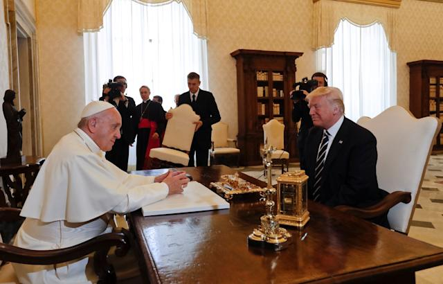 The pope has been critical of President Trump's handling of immigration, at one time saying he is