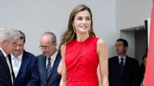 Queen Letizia Fabulously Repurposes the Dress She Wore to Meet Michelle Obama Last Summer