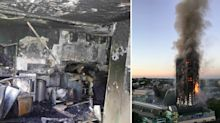 Harrowing pictures inside gutted flat where Grenfell Tower fire broke out released