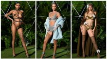 Models pose in sexy lingerie for Rihanna's NYFW show