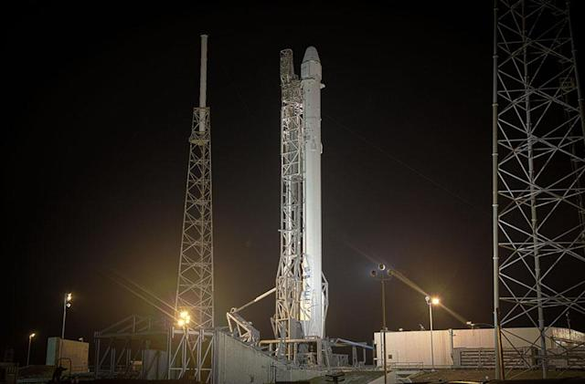 Watch SpaceX launch its Falcon 9 rocket and try to land it on a barge (updated)