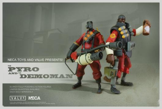 Team Fortress 2 Demo and Pyro action figures now available