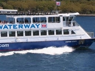 A New York Waterway ferry from Manhattan to Hoboken.