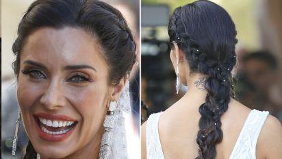 Los detalles del peinado 'hippie' de Pilar Rubio