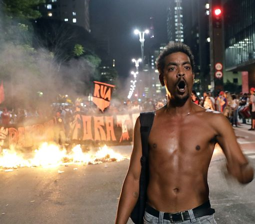 Protests erupt in Brazil over president's impeachment trial