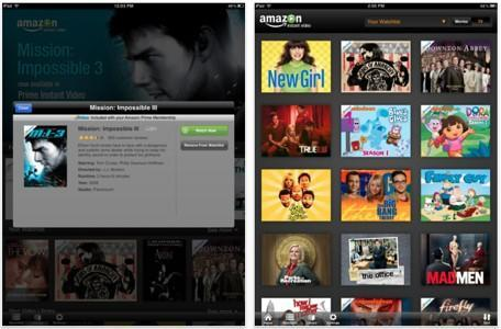 Amazon Instant Video shows up for iPad