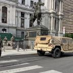 Heavy military presence as National Guard patrol Philadelphia during George Floyd protests