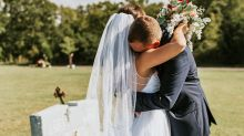 This couple's first look photos will probably make you cry
