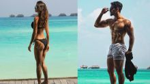 Disha Patani and Tiger Shroff showed off their beach body on vacation