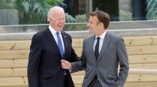 G7: une première rencontre Macron-Biden sur fond de rivalité naissante