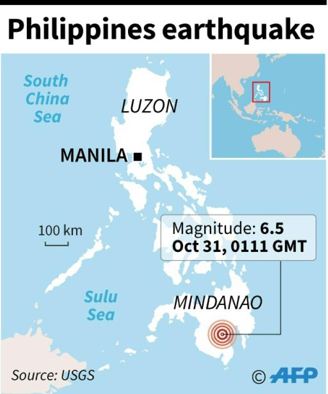 Third strong quake in a month jolts Philippines' Mindanao island