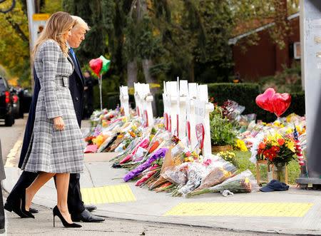 U.S. President Trump visit Tree of Life synagogue following shooting in Pittsburgh, Pennsylvania
