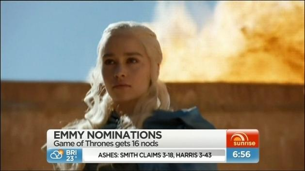 Game of Thrones among Emmy nominations