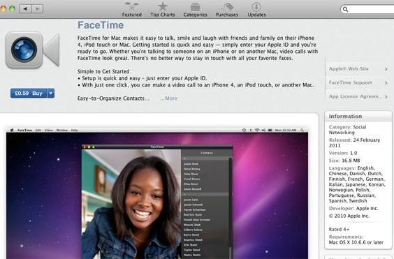 Apple FaceTime for Mac finally out of beta, available on the Mac App Store for $0.99