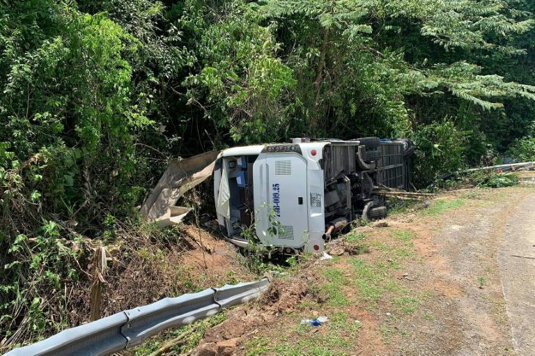 The accident occurred as the bus was carrying former classmates on a trip to mark the 30th anniversary of their graduation