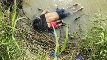 """""""Trump es responsable por estas muertes"""": la foto de un padre migrante y su hija ahogados en el Río Bravo remece a Washington"""