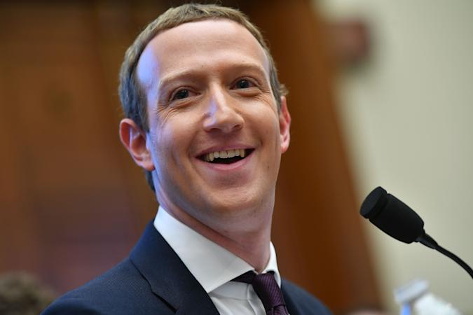 """Facebook Chairman and CEO Mark Zuckerberg testifies before the House Financial Services Committee on """"An Examination of Facebook and Its Impact on the Financial Services and Housing Sectors"""" in the Rayburn House Office Building in Washington, DC on October 23, 2019. (Photo by MANDEL NGAN / AFP) (Photo by MANDEL NGAN/AFP via Getty Images)"""