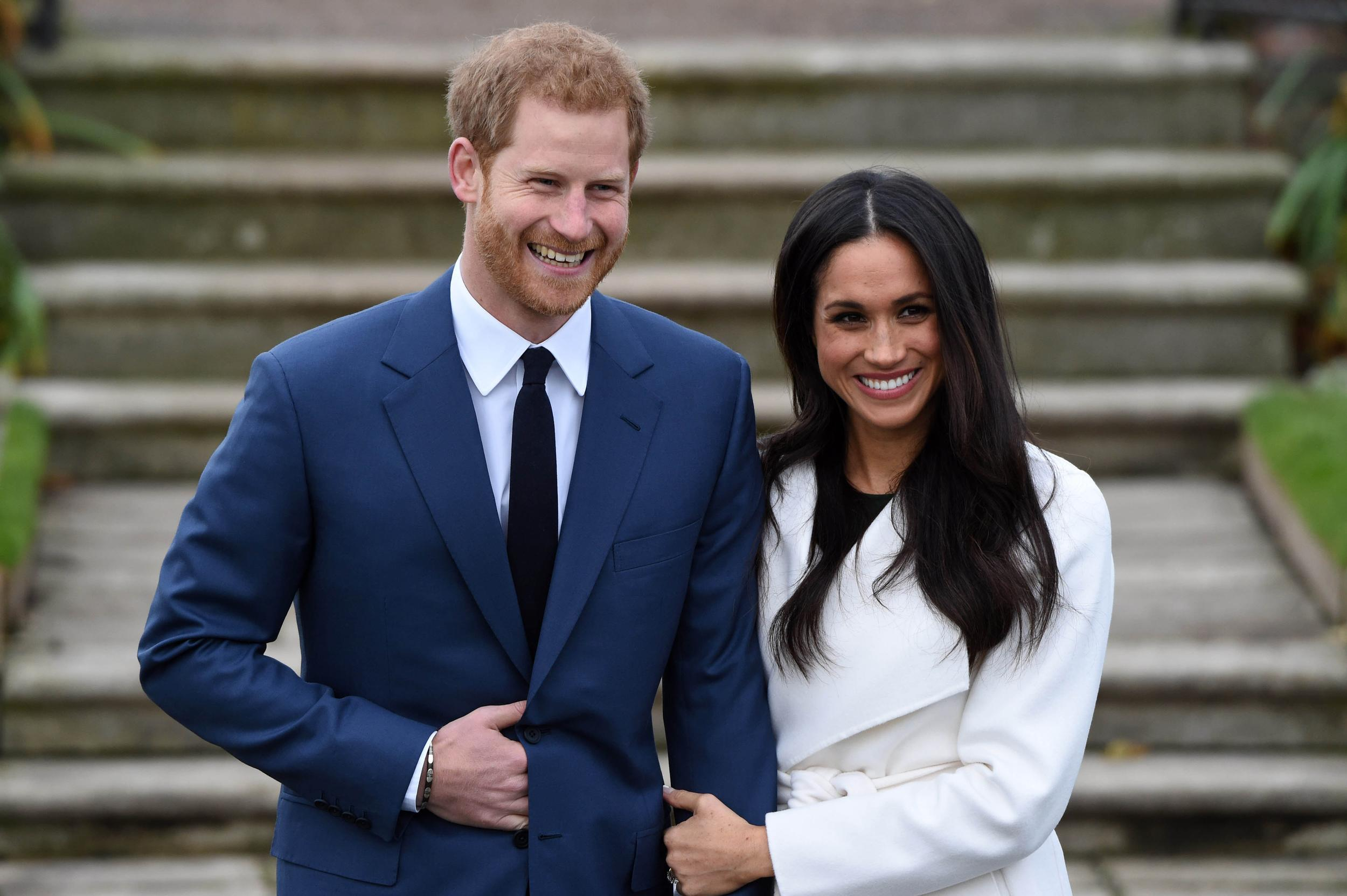 Prince Harry and Meghan Markle wedding date announced as May 19, 2018.   File Photo by: KGC-03/STAR MAX/IPx 2017 11/27/17 Prince Harry and Meghan Markle during an official photocall to announce the engagement of Prince Harry and actress Meghan Markle at The Sunken Gardens at Kensington Palace on November 27, 2017 in London, England.  His Royal Highness Prince Harry Of Wales and Ms. Meghan Markle are engaged to be married.  The wedding will take place in Spring 2018.  The couple became engaged in London earlier this month.  Prince Harry informed The Queen and other close members of his family and also sought and received the blessing of Ms. Markle's parents. (London, England, UK)