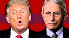 Trump rails against 'disaster' Fauci on campaign staff call