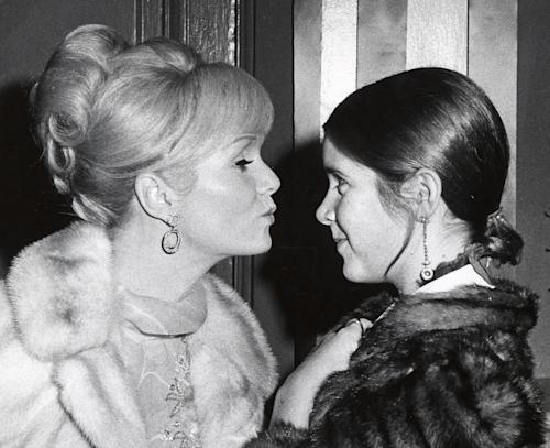 Image result for Debbie Reynolds Passes Away One Day After Daughter Carrie Fisher