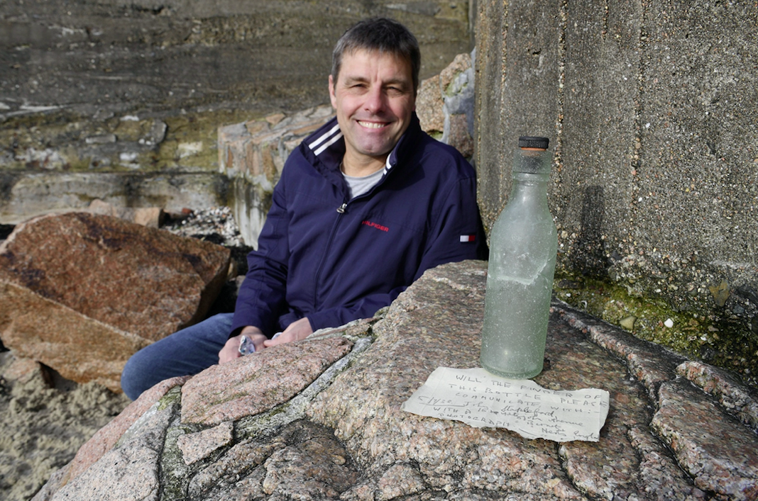 Message in a bottle written 82 years ago is found 245 miles away, sparking search for sender